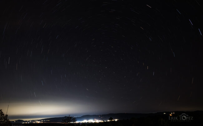Polaris. Carretero, Puebla, México. 12 de marzo de 2021, 21:41 hrs. f/11 948 sec ISO-100 Nikon D850