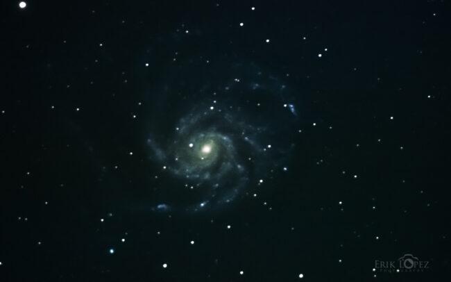 M101 - The Pinwheel Galaxy. Carretero, Puebla, México. 13 de marzo de 2021, 01:01 hrs. f/0 13 sec ISO-20000 Celestron Advanced VX 9.25