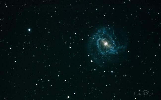 M83 - The Southern Pinwheel Galaxy. Carretero, Puebla, México. 13 de marzo de 2021, 02:55 hrs. f/0 13 sec ISO-12800 Celestron Advanced VX 9.25
