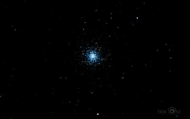 M13 - The Great Hercules Globular Cluster. Carretero, Puebla, México. 13 de marzo de 2021, 03:35 hrs. f/0 13 sec ISO-12800 Celestron Advanced VX 9.25