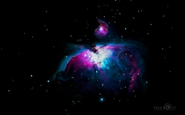 M42 - The Great Orion Nebula. Carretero, Puebla, México. 13 de marzo de 2021, 20:15 hrs. f/0 3 sec ISO-5000 Celestron Advanced VX 9.25